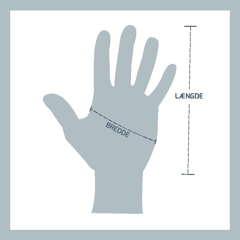 Størrelsesguide Wiley-x Handsker
