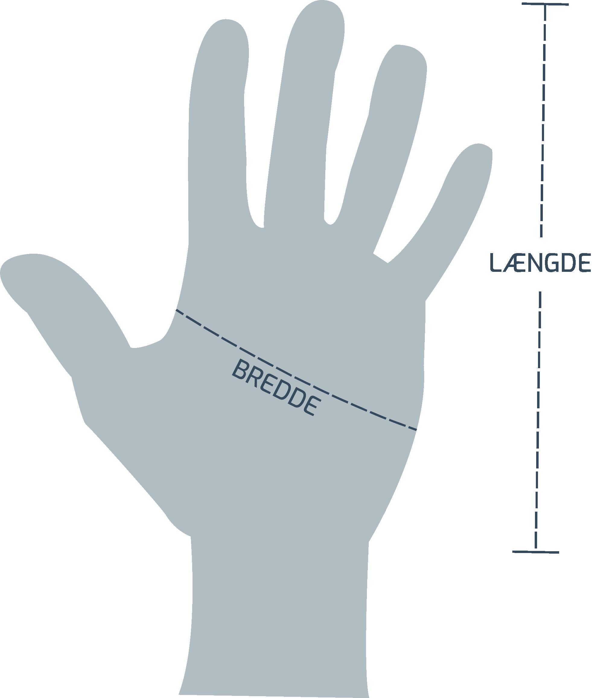 Størrelsesguide til handsker fra Wiley-X