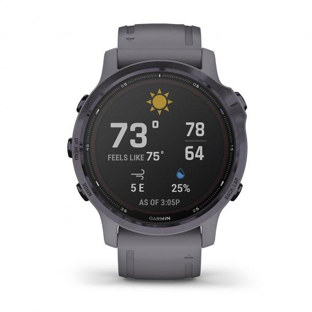 Garmin - Fenix 6S Pro Solar Multisport GPS Ur