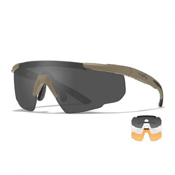 Wiley X - Saber Advanced Ballistiske Briller i Sand - 3 Linser