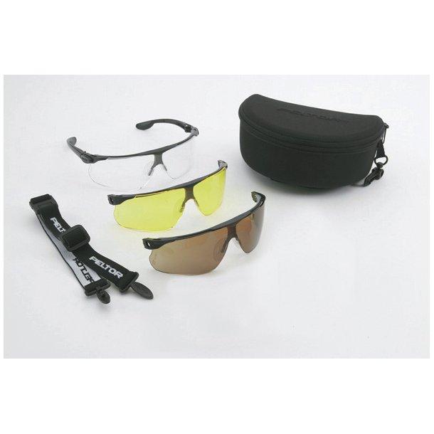 Peltor - Maxim Ballistic Skydebrille Sæt m. 3 Glas