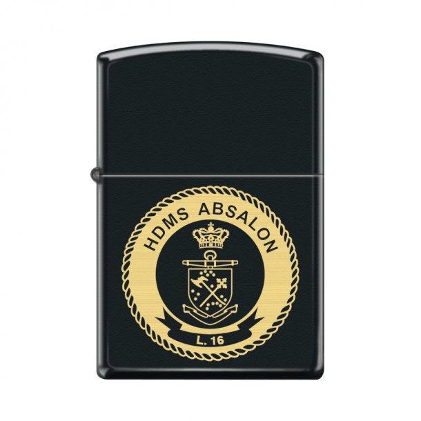 Zippo - Black Matte Lighter m. firmalogo