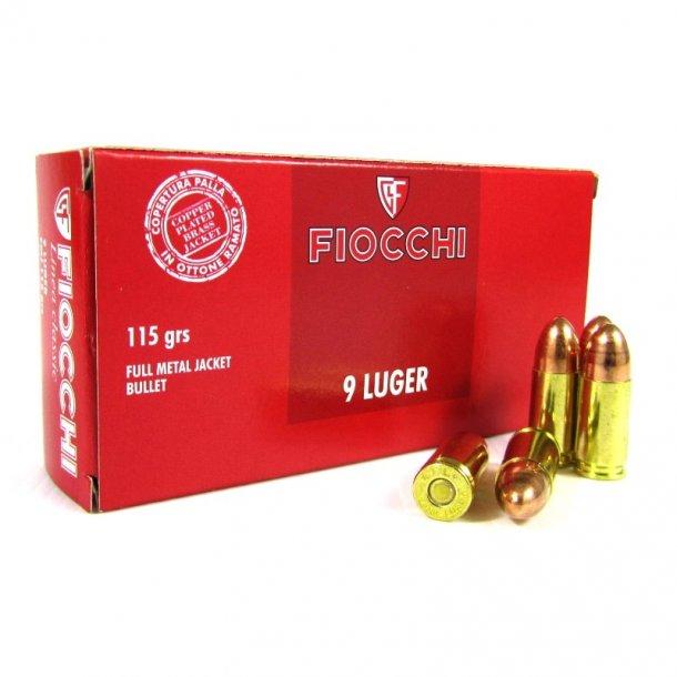 Fiocchi - 9mm Luger FMJ Ammunition (50 stk.)