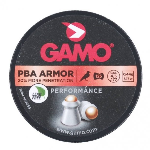 Gamo - PBA Armor Penetration Hagl 4,5 mm (125 stk.)