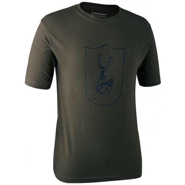 Deerhunter - Kortærmet T-shirt Med Deerhunter Logo