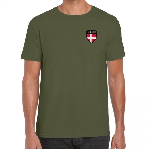 5.11 - Flag Shield Danmark T-Shirt