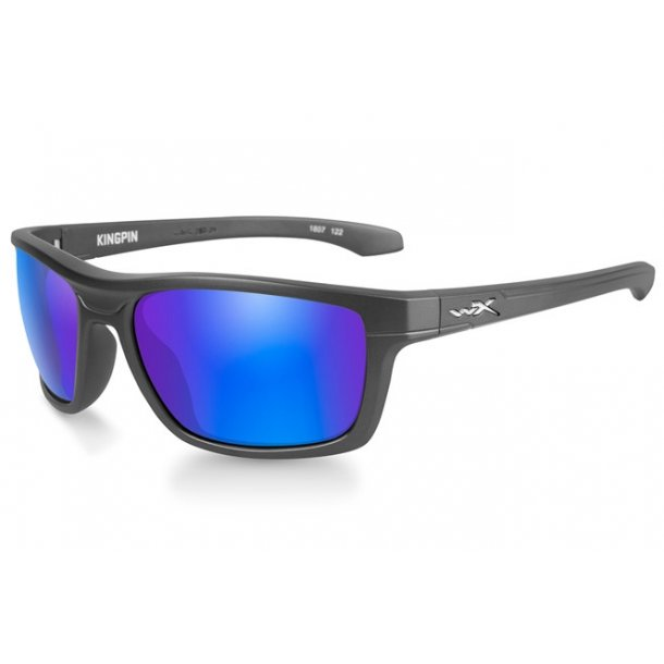Wiley X - Kingpin Polarized Blue Mirror Solbriller