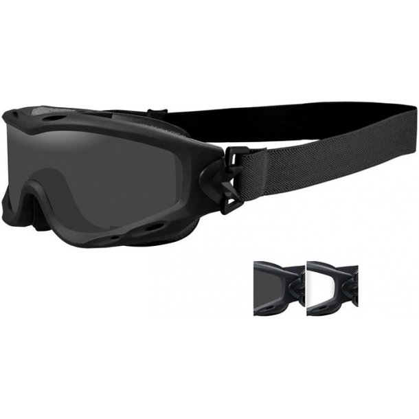 Wiley X - SPEAR Goggles Smoke/Clear (2 linser)