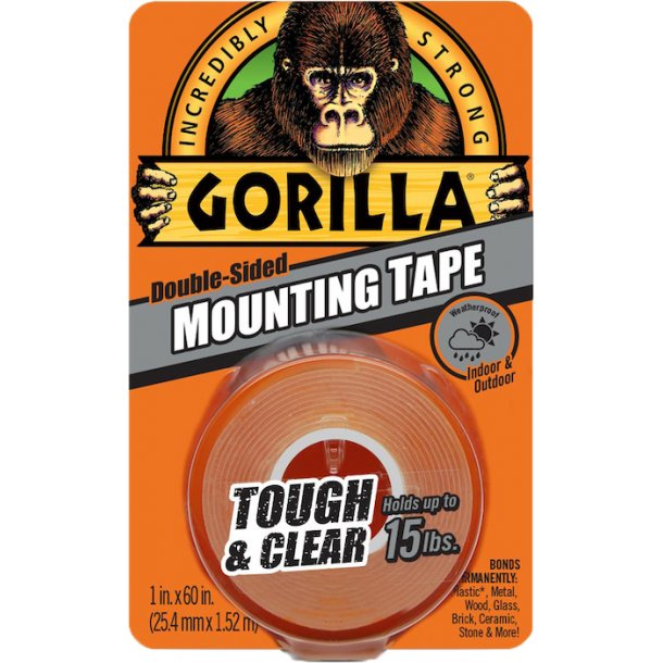 Gorilla Glue - Tough & Clear Mounting Tape (1,5 m.)