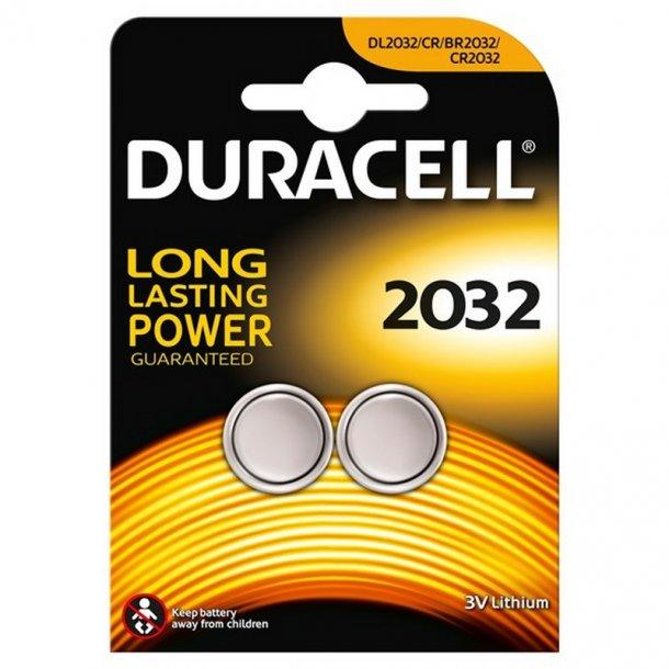 Duracell - CR2032 3V Lithium batteri (2-pak)