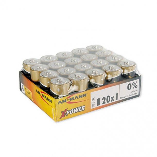 Ansmann - Alkali C 1.5 V Batterier (20 Stk.)