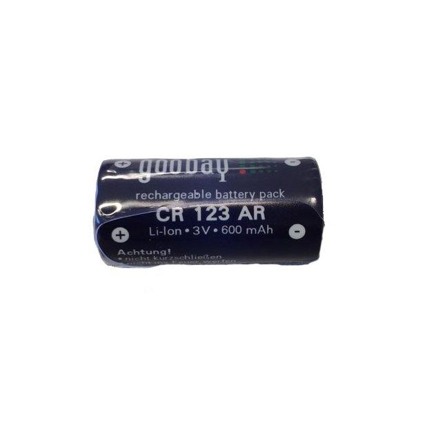 Jupio - CR123 3V genopladeligt batteri