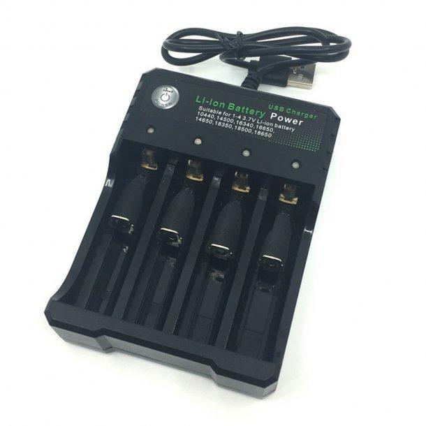 Pard - Quad Oplader til 18650 Batteri