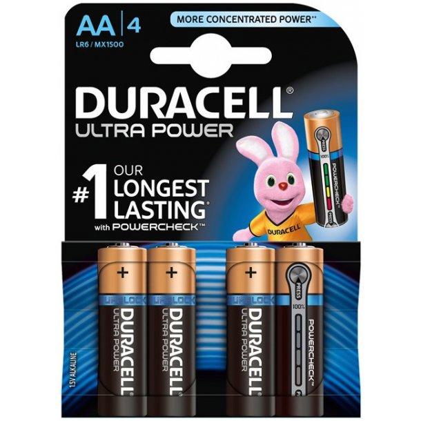 Duracell - Ultra AA Batterier (4-pak)