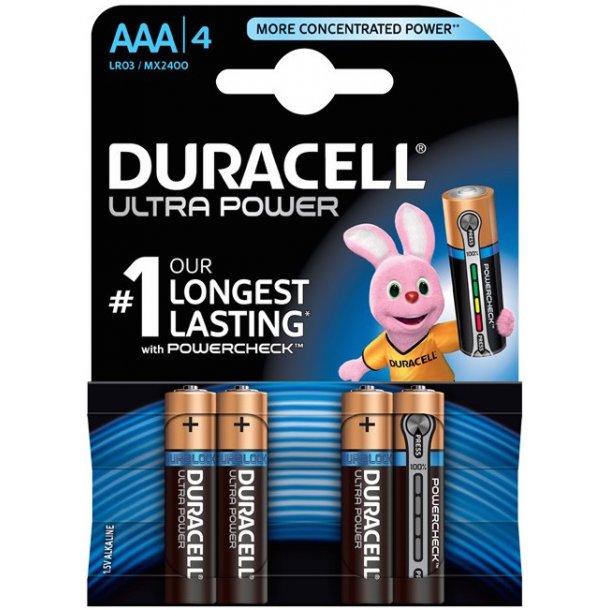 Duracell - Ultra AAA Batterier (4-pak)