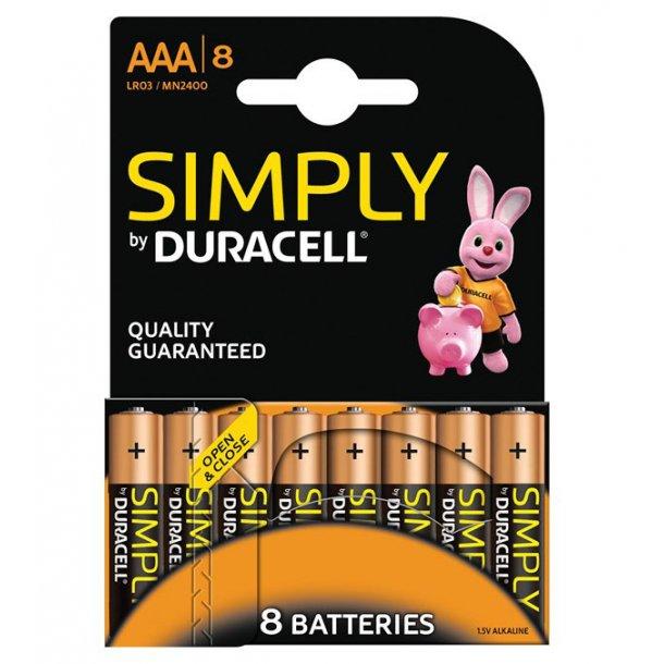Duracell - LR03 AAA (8-pak)