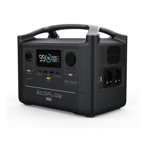 EcoFlow - River MAX 600 Transportabel Powerbank