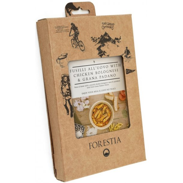 Forestia - Fusili all'uovo med Kylling Bolognese og Grana Padano (445 kcal)