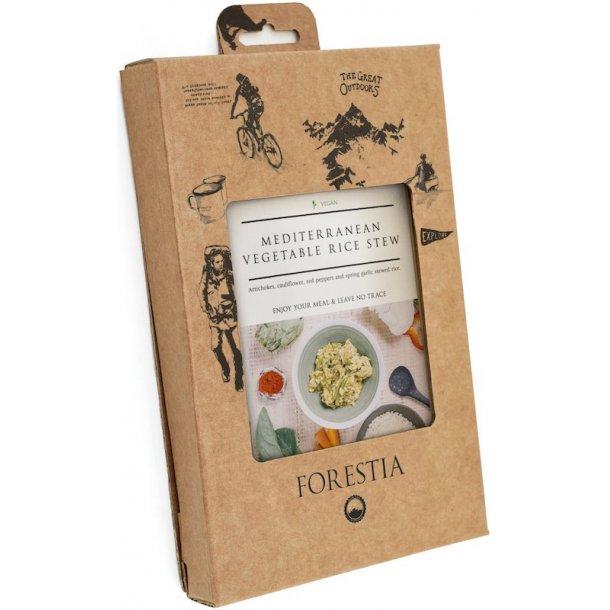 Forestia - Middelhavsstuvning med Grøntsager og Ris (85 kcal)