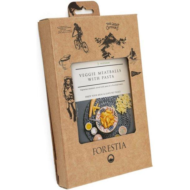 Forestia - Vegetarkødboller med Pasta (119 kcal, Vegetar)