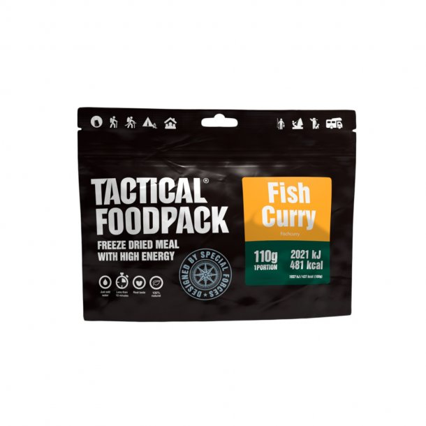 Tactical Foodpack - Fisk i Karry og Ris (481 Kcal)