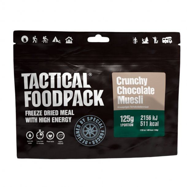 Tactical Foodpack - Crunchy Müsli med Chokolade (511 kcal)
