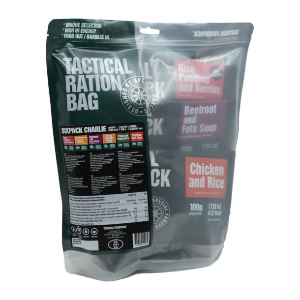 Tactical Foodpack - Sixpack Charlie Feltration, 6 måltider (2.406 Kcal)
