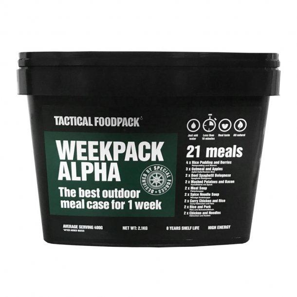 Tactical Foodpack - Weekpack Alpha Feltration, 21 måltider (9.874 Kcal)