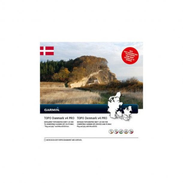 Garmin - TOPO v4 PRO Danmark (SD Kort)