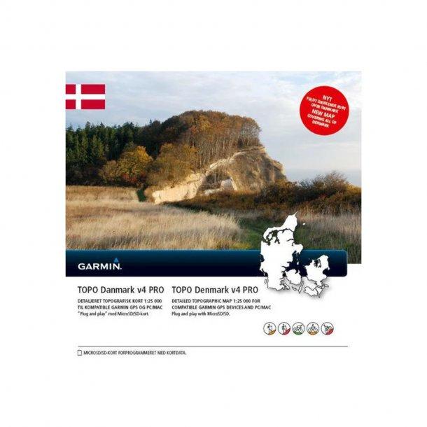 Garmin - TOPO Danmark V4 PRO Kort
