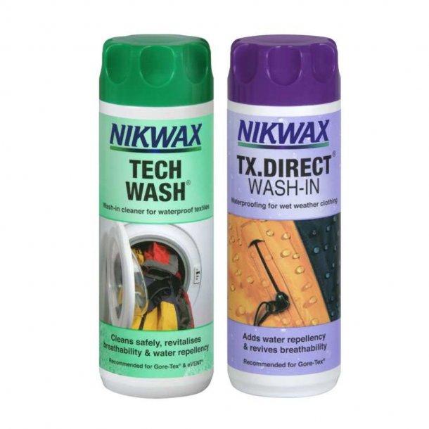Nikwax - Twinpack Tech Wash & TX.Direct Wash-In Imprægnering