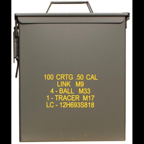 Mil-Tec - US M9 CAL. 50 LARGE Stål Ammunitionskasse