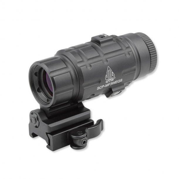 Leapers - 3x Magnifier med QD og Flip-To-Side