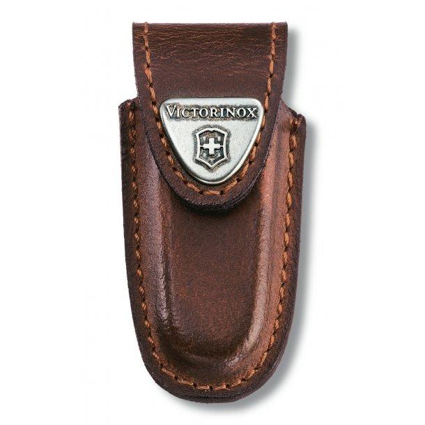 Victorinox - Etui i brun læder til Victorinox Classic serie