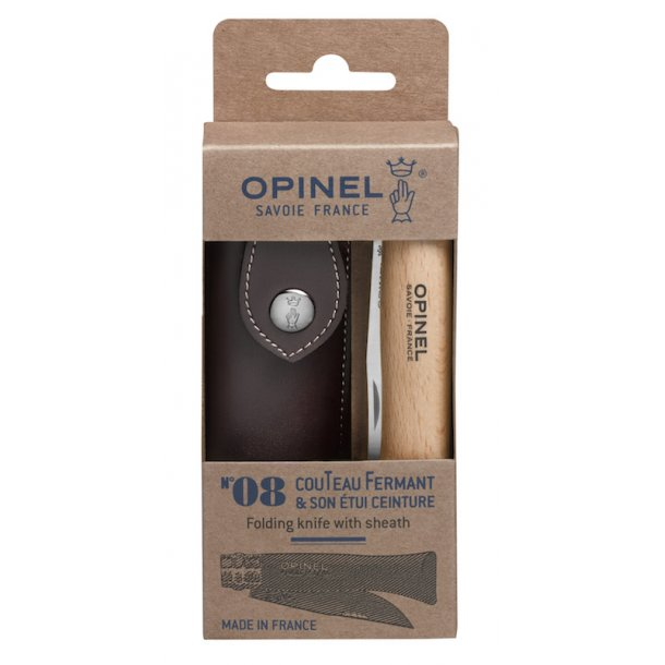 Opinel - No 8 Stainless Steel 8,5 cm blad m. skede