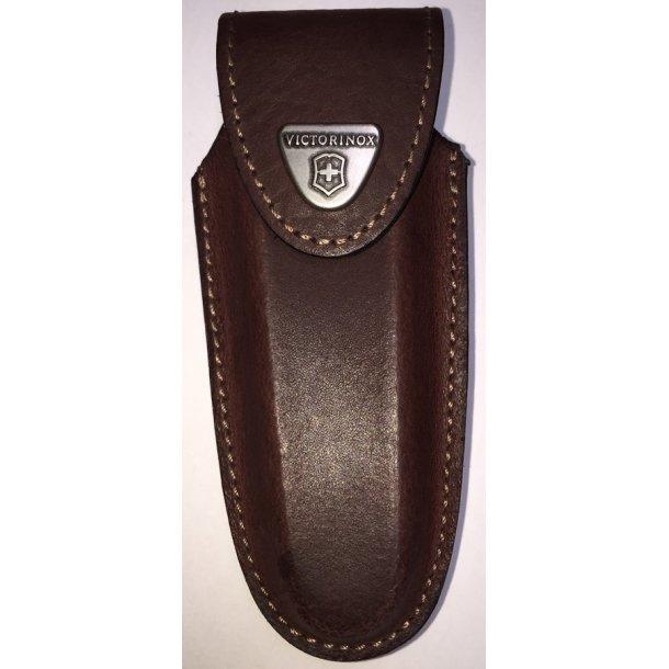 Victorinox - Etui i brun læder til Swiss Outdoor 111 mm (2-3 lag)