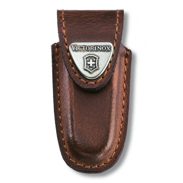 Victoinox - Etui i brun læder til Victorinox Classic serie