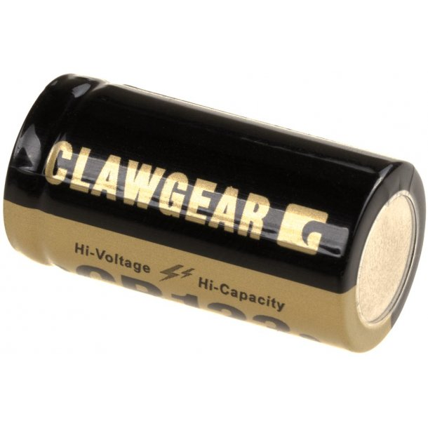 Claw Gear - CR123 Lithium 3V Batteri