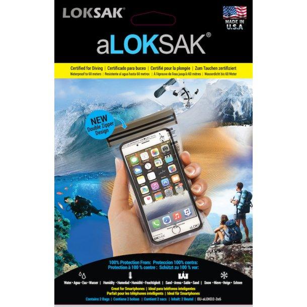 aLOKSAK - Vandtætte Poser, Smart phone (2-pak)