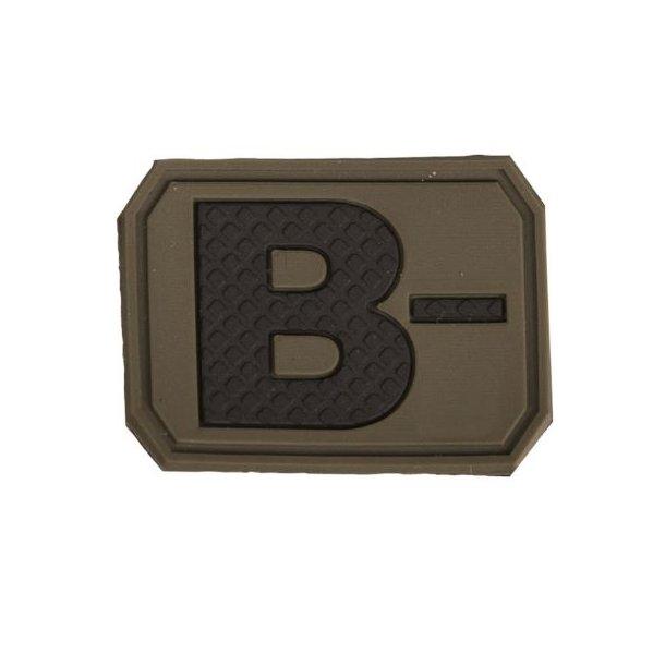 Mil-Tec - B Negativ Blodtype 3D Patch