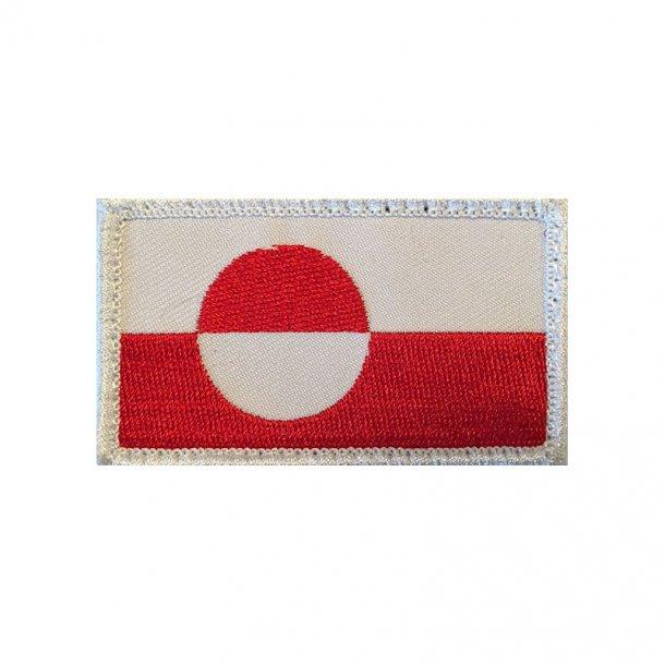 Grøndlandsk Flag (Velcro)