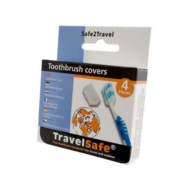 TravelSafe - Tandbørste Covers (4 stk)