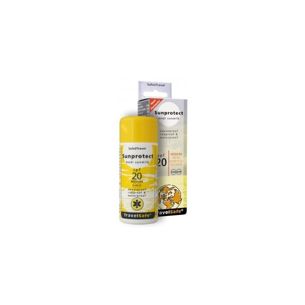 TravelSafe - Sunprotect SPF 20 Solcreme 75 ml