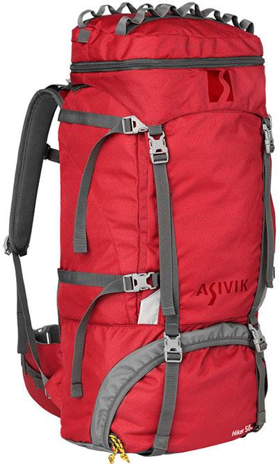 Asivik – Hiker 2.1 50 liter Børnerygsæk Rød
