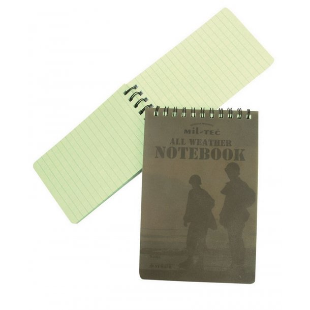 Mil-Tec - Tactical Notebook Brystlomme 8 x 13 cm