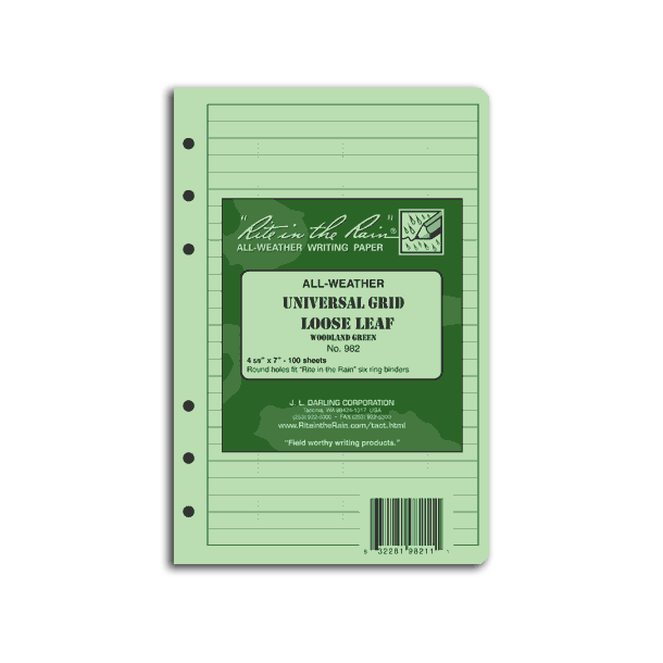 Rite In The Rain - All-Weather Tactical Field Ring Binder Paper