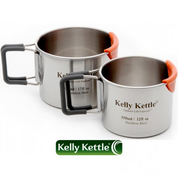 Kelly Kettle - Kopper i rustfrit stål (2 pak)
