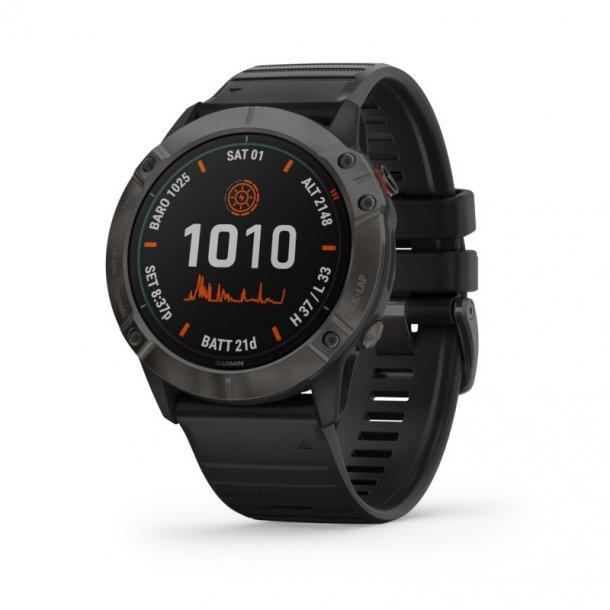 Garmin - Fenix 6X Pro Solar Multisports GPS Ur