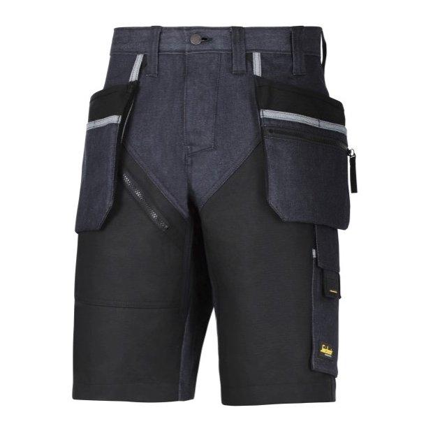 Snickers Workwear - RuffWork Denim Shorts+ Med Hylsterlommer
